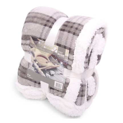 Deluxe Blanket Checkered Grey