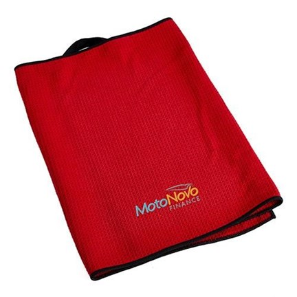 Microfibre Waffle Towel Red